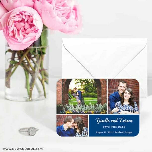 Trio Collage 6 Wedding Save The Date Magnets