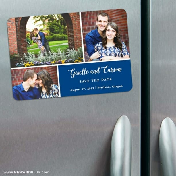 Trio Collage 3 Refrigerator Save The Date Magnets