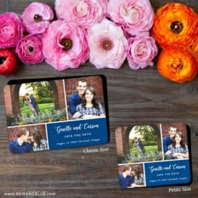 Trio Collage 2 Save The Date Magnet Classic And Petite Size