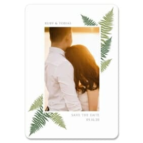 Framed In Ferns 1 Save The Date Magnets