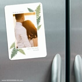 Framed In Ferns 3 Refrigerator Save The Date Magnets