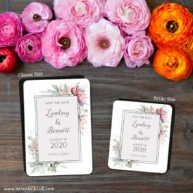Botanical Frame Nb 2 Save The Date Magnet Classic And Petite Size