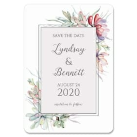 Botanical Frame Nb 1 Save The Date Magnets