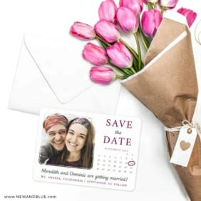 Calendar Couple Save The Date Cards With Envelope