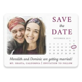 Calendar Couple Save The Date