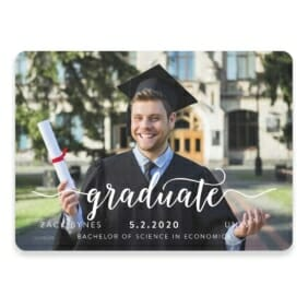 Handwriting Graduation Save The Date