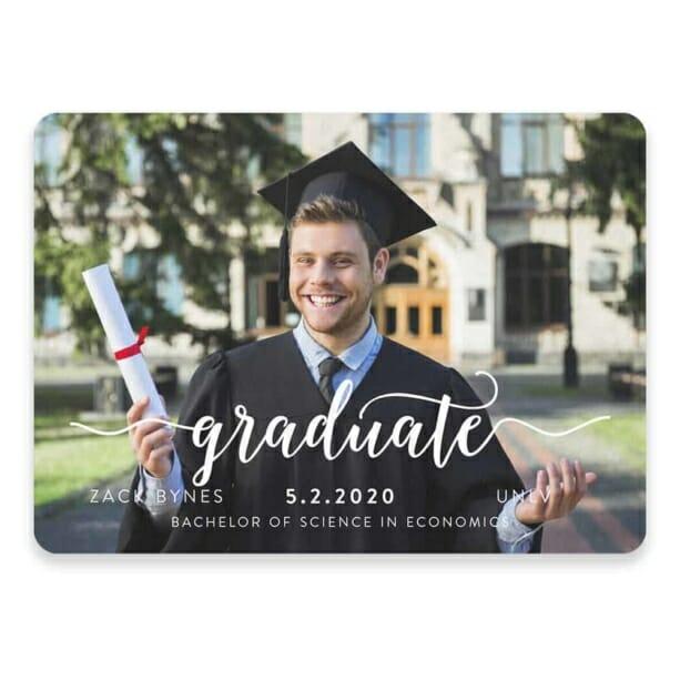 Handwriting Graduation Save The Date