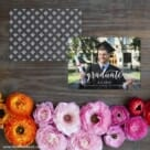 Handwriting Graduation Save The Date Card With Back Printing