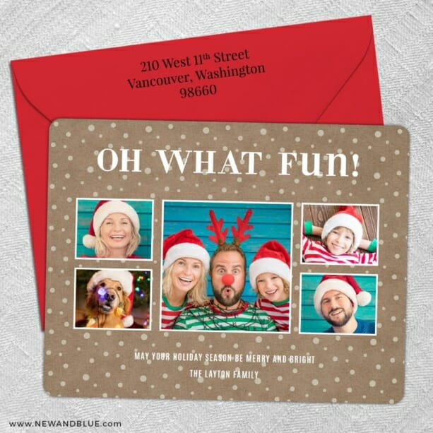 Oh What Fun 5 Save The Date With Optional Color Envelope