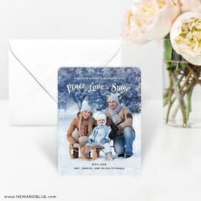Peace Love And Snow 4 Wedding Save The Date Magnets
