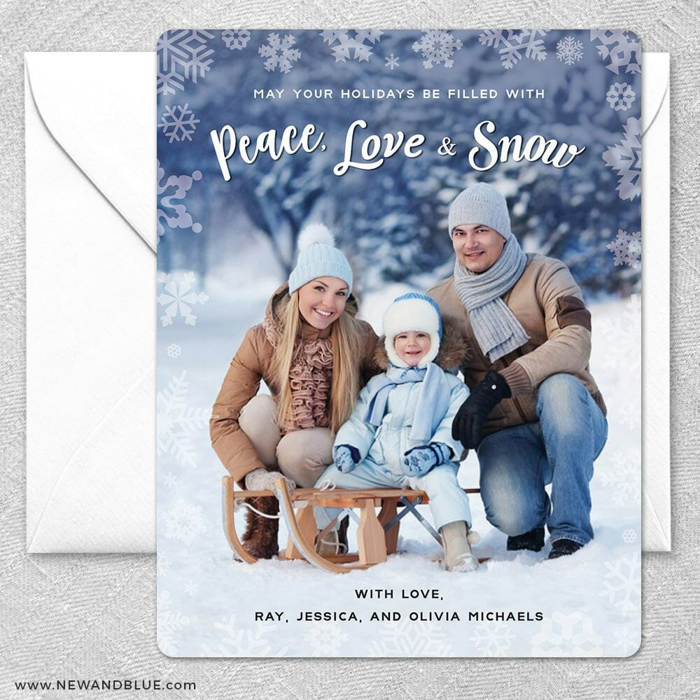 Peace Love And Snow2 Grande Size Save The Date Magnet