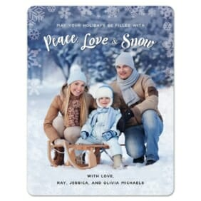 Peace Love And Snow 1 Save The Date Magnets