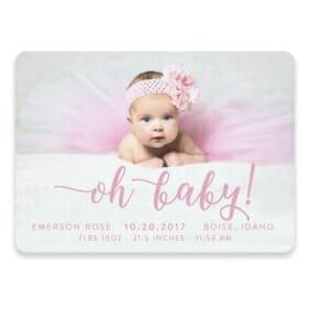 Handwriting Baby Save The Date