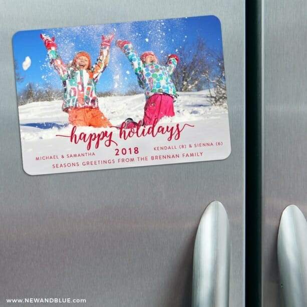 Handwriting Holiday 3 Refrigerator Save The Date Magnets