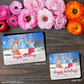 Handwriting Holiday 2 Save The Date Magnet Classic And Petite Size