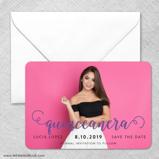 Handwriting Quinceanera Classic Size