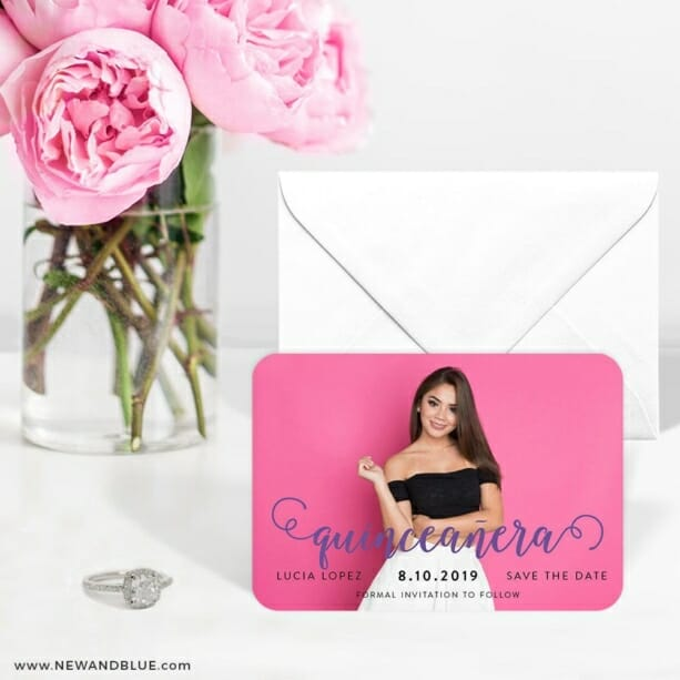 Handwriting Quinceanera 6 Wedding Save The Date Magnets
