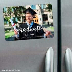 Handwriting Graduation 3 Refrigerator Save The Date Magnets