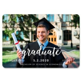 Handwriting Graduation 1 Save The Date Magnets