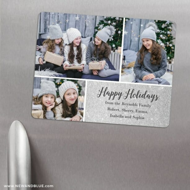 Sparkle Collage 3 Refrigerator Save The Date Magnets