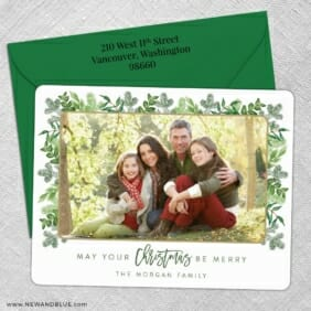 Festive Frame 5 Save The Date With Optional Color Envelope