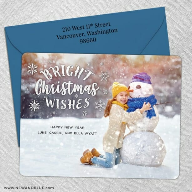 Snow Bunny 5 Save The Date With Optional Color Envelope