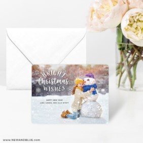 Snow Bunny 4 Wedding Save The Date Magnets