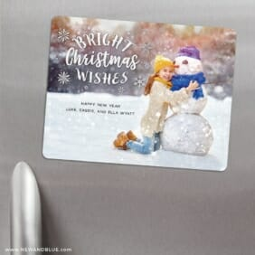 Snow Bunny 3 Refrigerator Save The Date Magnets