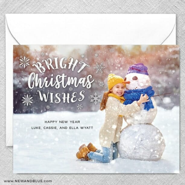 Snow Bunny2 Grande Size Save The Date Magnet