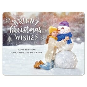 Snow Bunny 1 Save The Date Magnets