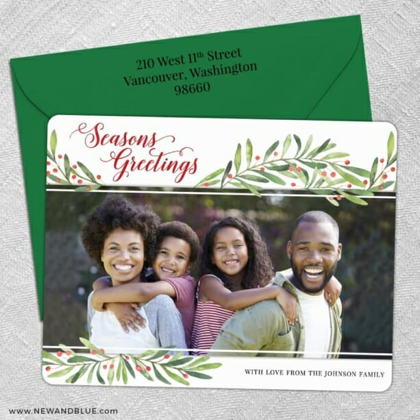 Garland Greetings 5 Save The Date With Optional Color Envelope