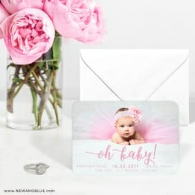 Handwriting Baby 6 Wedding Save The Date Magnets