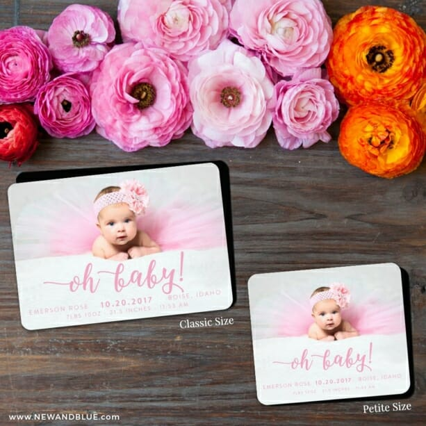 Handwriting Baby 2 Save The Date Magnet Classic And Petite Size