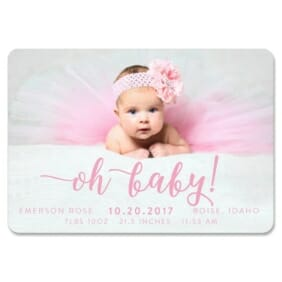 Handwriting Baby 1 Save The Date Magnets