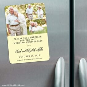 Golden Years Nb 3 Refrigerator Save The Date Magnets