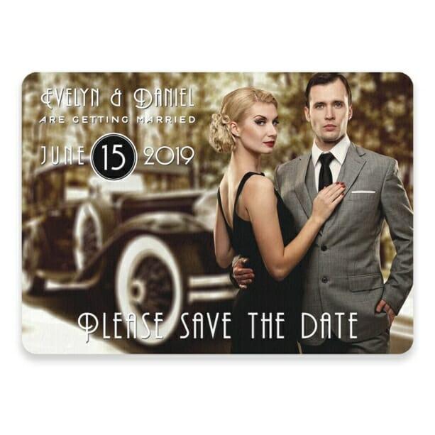 Rockefeller Save The Date Postcards