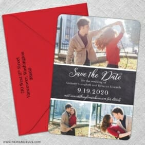 Union Square Wedding 5 Save The Date With Optional Color Envelope