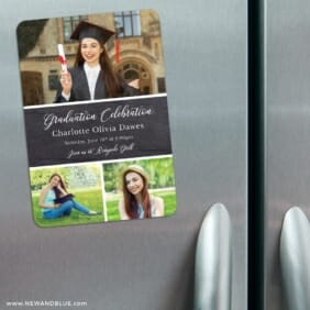 Union Square Graduation 3 Refrigerator Save The Date Magnets
