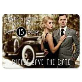 Rockefeller 1 Save The Date Magnets