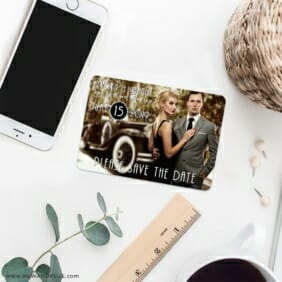 Rockefeller 7 Wedding Save The Date Magnets