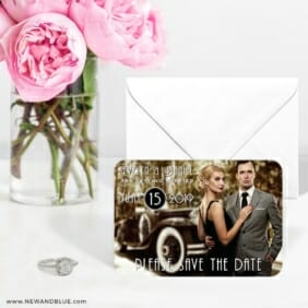Rockefeller 6 Wedding Save The Date Magnets
