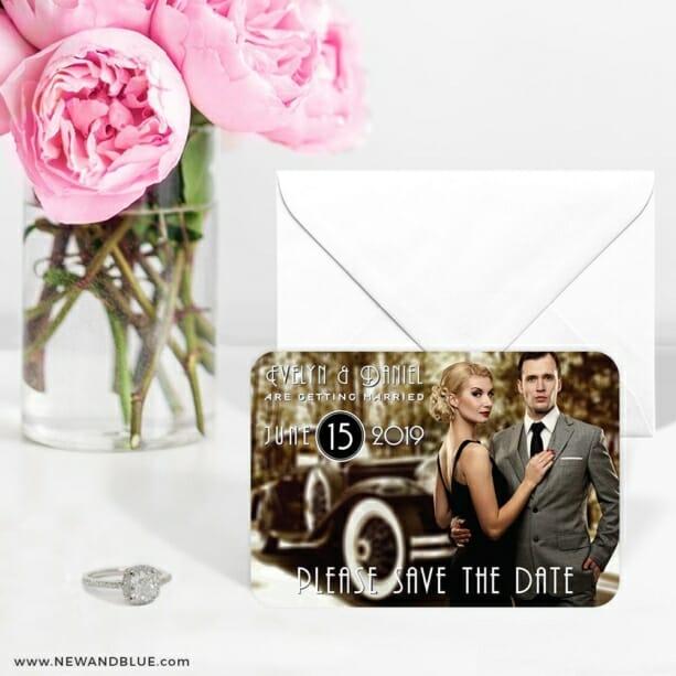 Rockefeller 6 Wedding Save The Date Magnets