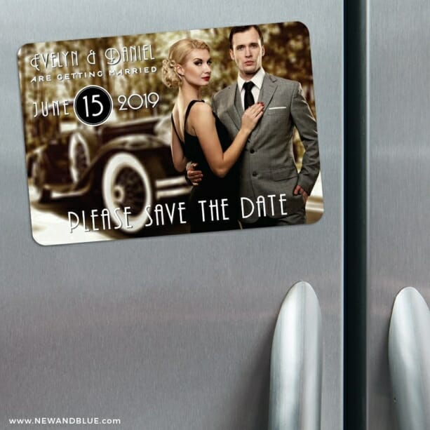 Rockefeller 3 Refrigerator Save The Date Magnets