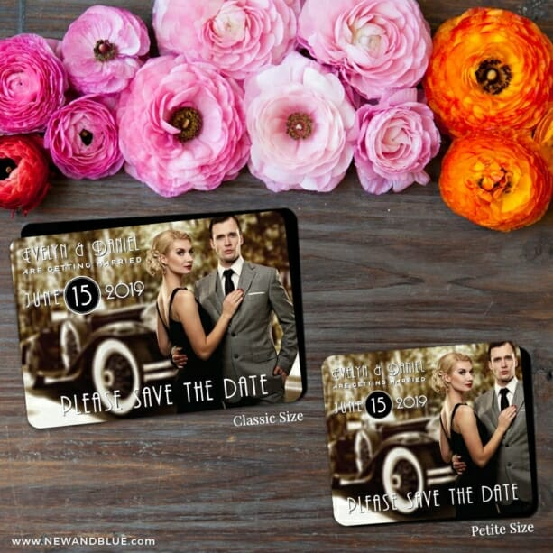 Rockefeller 2 Save The Date Magnet Classic And Petite Size