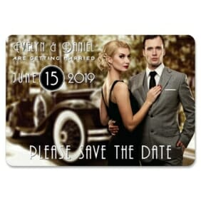 Rockefeller 1 Save The Date Magnets