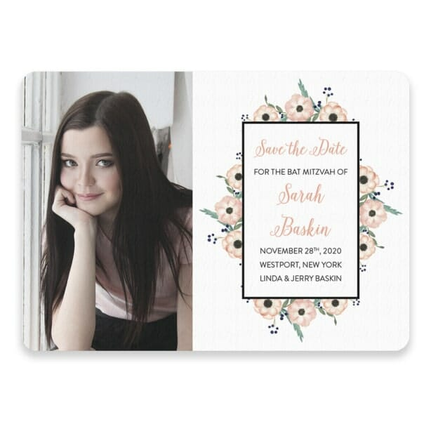 Flower Bat Mitzvah Save The Date