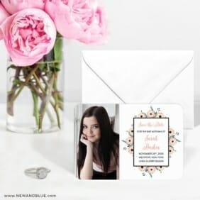Flower Bat Mitzvah Nb 6 Wedding Save The Date Magnets