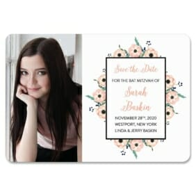 Flower Bat Mitzvah Nb 1 Save The Date Magnets