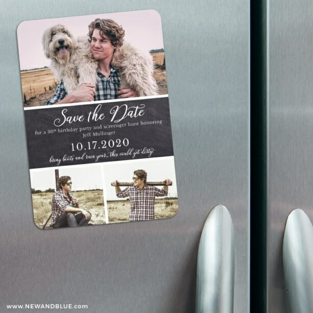 Union Square Birthday 3 Refrigerator Save The Date Magnets