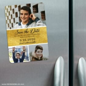 Union Square Bar Mitzvah 3 Refrigerator Save The Date Magnets